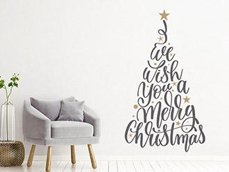 Wandtattoo Worte Weihnachtsbaum