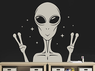 Wandtattoo Alien