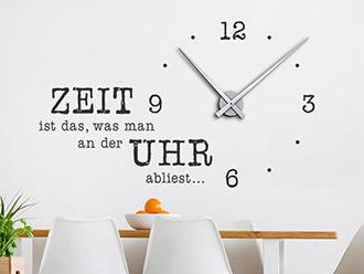 Wandtattoo Uhren Mit Kreativen Designer Zeigern Wandtattoo De