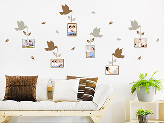 Wandtattoo Fotorahmen Vögel