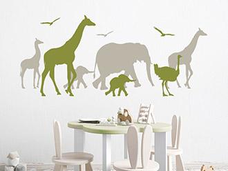 Wandtattoo Safari