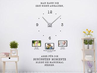 Wandtattoo Uhr Für die schönsten Momente