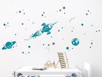 Wandtattoo Weltraumreise