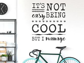 Wandtattoo Being cool