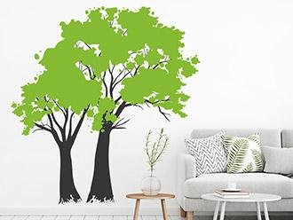 Wandtattoo Vintage Bäume