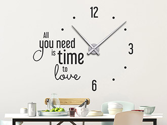 Wandtattoo Uhr All you need is time