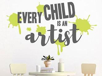 Wandtattoo Every child is an artist