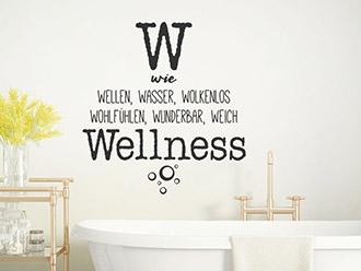 Wandtattoo W wie Wellness