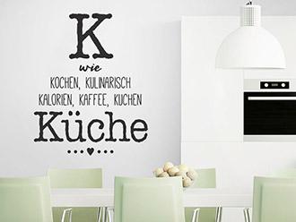 Wandtattoo K wie Küche