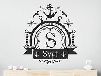 Wandtattoo Sylt Emblem