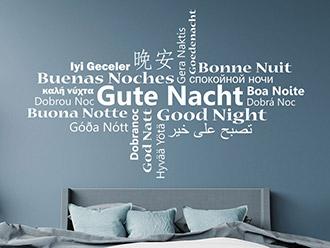 Wandtattoo Gute Nacht Multikulturell