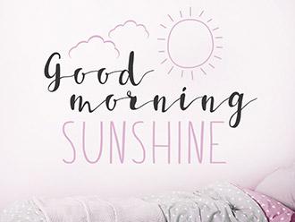 Wandtattoo Good Morning Sunshine mit Sonne
