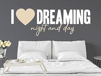 Wandtattoo I love dreaming