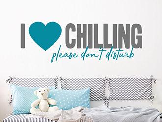 Wandtattoo I love chilling
