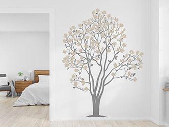 Wandtattoo Blühender Magnolien Baum