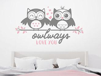 Wandtattoo Owlways love you