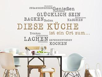 wandtattoo worte f r die k che und den essbereich wandtattoo de. Black Bedroom Furniture Sets. Home Design Ideas