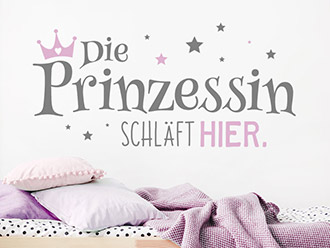 Wandtattoo Die Prinzessin