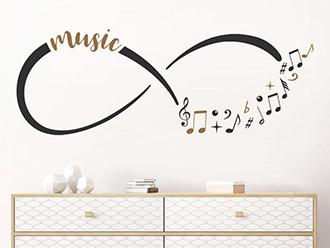 Wandtattoo Music Infinity