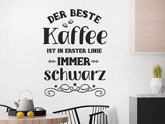 Wandtattoo Der beste Kaffee