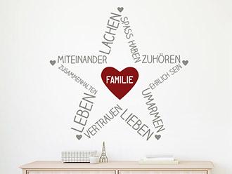 Wandtattoo Familienstern