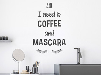 Wandtattoo Coffee and Mascara