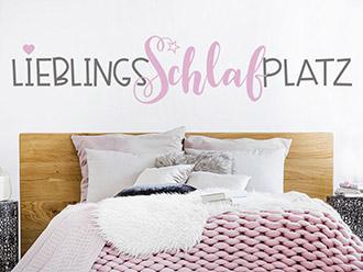 Wandtattoo Lieblingsschlafplatz