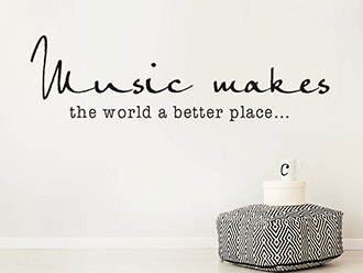 Wandtattoo Music makes the world