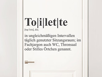 Wandtattoo Definition Toilette