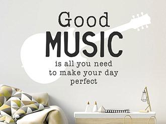 Wandtattoo Good music