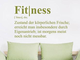 Wandtattoo Fitness Definition