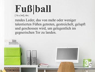 Wandtattoo Fußball Definition