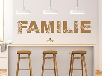 Wandtattoo Schriftzug Familie