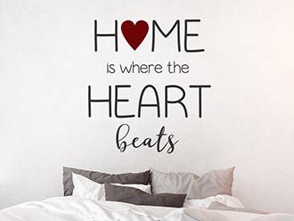 Wandtattoo Home is where the heart beats