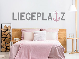 Wandtattoo Liegeplatz