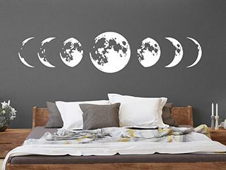 Wandtattoo Mondphasenzyklus