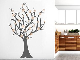 Wandtattoo Romantischer Baum