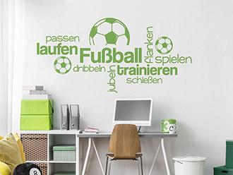 Wandtattoo Fußball Worte