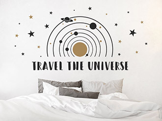 Wandtattoo Travel the universe