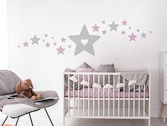 Wandtattoo Baby Sterne
