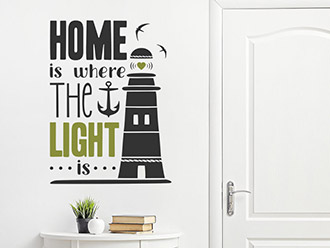 Wandtattoo Home is where the light is