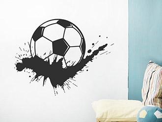 Wandtattoo Fußball Splash