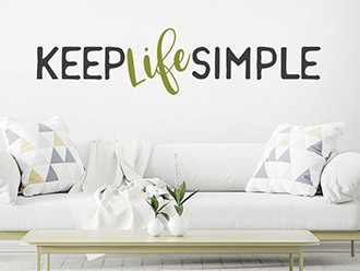 Wandtattoo Keep Life Simple