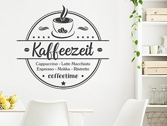 Wandtattoo Kaffeezeit