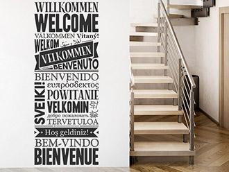 Wandtattoo Willkommen in mehreren Sprachen