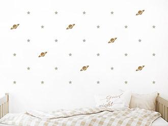 Wandtattoo Weltraum mit Sternen