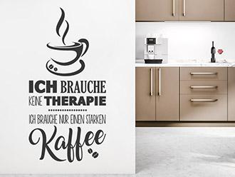 Wandtattoo Kaffeetherapie