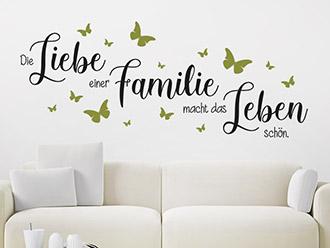 Wandtattoo Die Liebe einer Familie