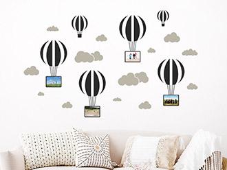Wandtattoo Fotorahmen Heißluftballons