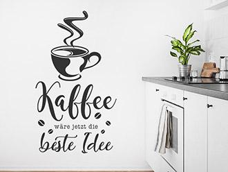 Wandtattoo Kaffee die beste Idee